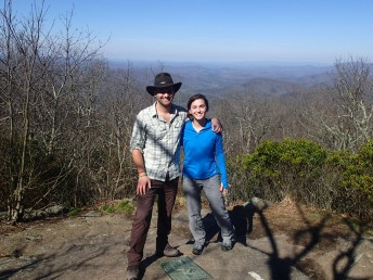 On top of Springer Mt. About to start hiking!