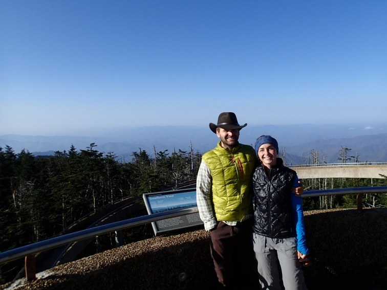 Highest point on the AT, Clingmans Dome.