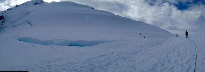 Giant crevasse, you don't scare me!