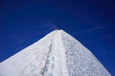Knife edge to the summit.